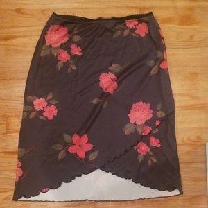 LA Movers womans rose dress skirt medium